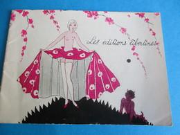 Petit Catalogue/ Les Editions Libertines / Livres Rares Et Curieux/Erotisme/Vers 1920-1940         CAT242 - France