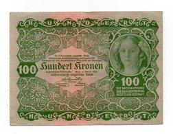 Austria - 1922 - Banconota Da 100 Corone - Usata -  (FDC12155) - Austria