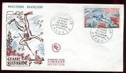Polynésie - FDC - Chasse Sous Marine - 1965 - FDC