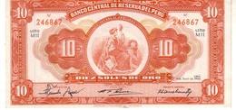 Perù P.77 10 Soles 1956 Unc - Perù