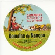 Etiquette De Fromage Camembert - Nançon - Nazart - Fougères - Ille Et Vilaine. - Cheese