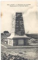 """FEY-EN-HAYE . LE MONUMENT AUX ANCETRES ( Emplacement De L'ancienne Eglise """" . CARTE NON ECRITE - France"""
