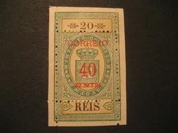 FISCAL 40 O.p. 20 Reis MACAU 1887 Yvert 31 (Cat. Year 2008: 150 Eur) Stamp Macao Portugal China Area Fiscaux - Macau