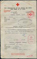 1942 Guernsey Red Cross Message Lincoln Bueau - Guernsey