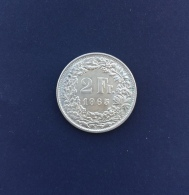 Moneta Svizzera 2 Franchi 1965/B - Svizzera