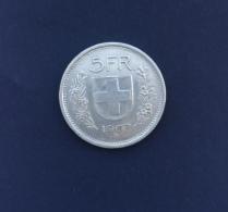 Moneta Svizzera 5 Franchi Ag. 1967 Circolata - Schweiz