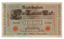 Germania - 1910 - Banconota Da 1000 Marchi - Bollo Rosso - (FDC12156) - [ 2] 1871-1918 : Impero Tedesco