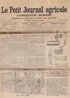 LE PETIT JOURNAL AGRICOLE 1905 31 Décembre Les écuries, Alimentation Et Production Du Beurre, Morve Et Farçin... - 1900 - 1949