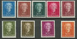 SURINAM: **, N°278 à 286, TB - Suriname