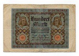 Germania - 1920 - Banconota Da 100 Marchi - Usata - (FDC12157) - [ 2] 1871-1918 : Impero Tedesco
