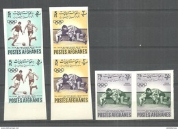 AFGHANISTAN STAMPS  1962 SPORTS IMPERF PAIR MNH - Afghanistan