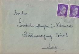 Lettre De Reding (T332 Redingen B Saarburg Westmark A) TP Reich 6pfx2=1°éch Le 221/5/42 Pour Metz - Postmark Collection (Covers)