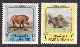AFGHANISTAN 1969 - Animals, Fauna 2v MNH - Afghanistan