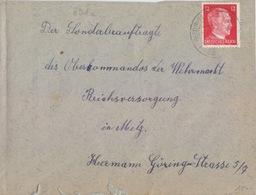 Lettre De Reding (T332 Redingen B Saarburg Westmark A) TP Reich 12pf=1°éch Le 21/9/43 Pour Metz - Postmark Collection (Covers)