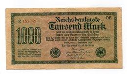 Repubblica Di Weimar - Germania - 15 Settembre 1922 - Banconota Da 1000 Marchi - Usata - (FDC12158) - [ 3] 1918-1933 : Repubblica  Di Weimar