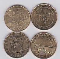 4 Médailles 2014- Le Mucem- Airborn- Tramway -rocroy - Monnaie De Paris