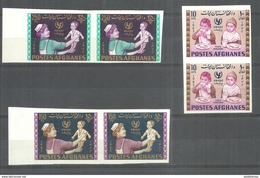 AFGHANISTAN STAMPS 1963 UNICEF  IMPERF PAIR MNH - Afghanistan