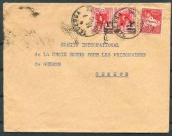 1940 Algeria Cover Tedessa - Red Cross, Geneva Switzerland - Algeria (1924-1962)