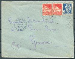 WW2 Algeria US Army Base Censor Cover - Red Cross, Geneva Switzerland - Algeria (1924-1962)