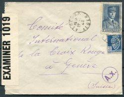 1943 Algeria Censor Cover - Red Cross, Geneva Switzerland - Algeria (1924-1962)