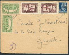WW2 Algeria Censor Cover - Red Cross, Geneva Switzerland - Algeria (1924-1962)
