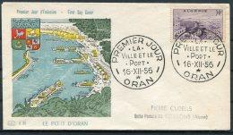 1956 Algeria Le Port Oran FDC - Algeria (1924-1962)