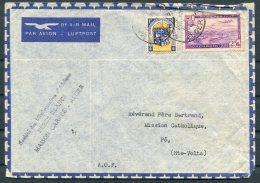 1948 Algeria Airmail Missionary Cover - Cathloic Mission, Po, Upper Volta Via Navrongo, Gold Coast - Algeria (1924-1962)