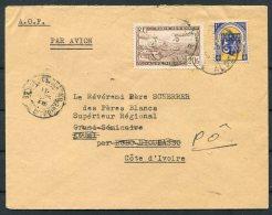 1948 Algeria A.O.F. Airmail Missionary Cover - Cathloic Mission, Po, Ivory Coast - Algeria (1924-1962)