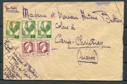 1945 Algeria Airmail Cover - Camp Christian, Maroc - Algeria (1924-1962)