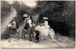95 MONTMORENCY - En Foret - Promenade à ânes - Montmorency
