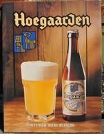 Rare Plaque En Carton Pour La Bière Hoegaarden - Paperboard Signs