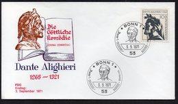 DANTE ALIGHIERI, FDC 1€ - Famous People