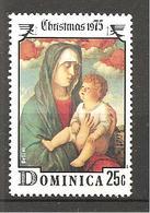 DOMINICA - 1975 GIOVANNI BELLINI  Madonna Dei Cherubini Rossi (Galleria Accademia, Venezia) Nuovo** MNH - Madonne