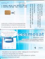 GREECE - Cosmosat Cardphone, Cosmosat Telecard, 2nd Definitive Issue 4 Euro, Tirage 1000, Used - Telephones