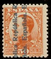ESPAÑA Edifil 601**  50 Céntimos Naranja  Sobrecarga República  1931  NL378 - 1931-50 Neufs