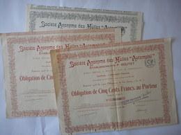 """LOT De 3 Sa Des HUILES """"AUTOMOBIL"""" 1923     ROUEN - Mines"""