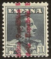 ESPAÑA Edifil 602* Mh  1 Peseta Pizarra  Sobrecarga República  1931  NL973 - 1931-50 Neufs