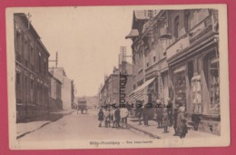 62 - BILLY MONTIGNY---Rue Jean Jaures--commerces- ---animé----cpsm Pf - France