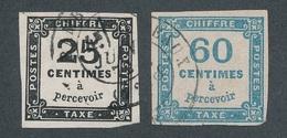 CF-174: FRANCE: Lot Avec Taxes N°5A Obl-9 Obl - Taxes