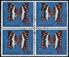 IVORY COASR- Scott #446D Alla Decius / Used Block Of 4 Stamps (bk1106) - Ivory Coast (1960-...)
