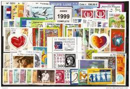 FRANCE - Année Complète 1999 - NEUF LUXE ** 80 Timbres - SUPERBE - 1990-1999