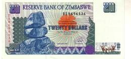 Zimbabwe P.7 20 Dollars 1997 Unc - Zimbabwe
