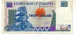 Zimbabwe P.7 20 Dollars 1997 Vf - Zimbabwe