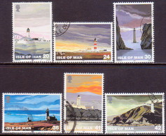 ISLE OF MAN 1996 SG 672-77 Compl.set Used Lighthouses - Man (Ile De)