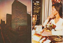 """CPSM New York - Restaurant """"Top Of The Six's"""" 666 Fifth Avenue (avec 2 Vues) - Cafés, Hôtels & Restaurants"""