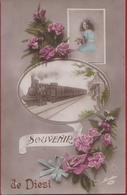 Diest Souvenir De Groeten Uit (In Zeer Goede Staat) Trein Stoomtrein Locomotive A Vapeur Stoomlocomotief  Locomotief - Diest