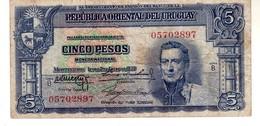 Uruguay P.36 5 Pesos 1939 Vf - Uruguay