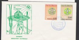 HAITI - 1967- SCOUTS SET OF 2  ON ILLUSTRATED FIRST DAY COVER - Haiti
