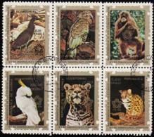 Guinea Ecuatorial Republica - SW1134 Animals / Used Block Of 6 Stamps (bk1116) - Africa (Other)