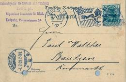 1902 , ALEMANIA , TARJETA POSTAL COMERCIAL ,  LEIPZIG - BAUTZEN - Deutschland
